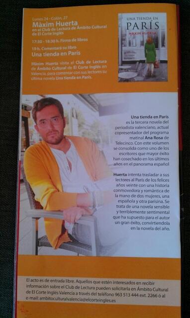 El d a 24 de junio valencia m xim huerta for Maxim huerta libros